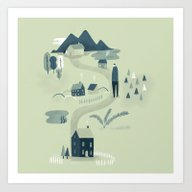 Art Print featuring The Village by Mark Conlan