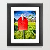 Red Mailbox Framed Art Print