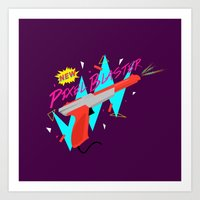 Pixel Blaster Art Print