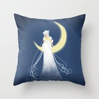 Moon Princess Throw Pillow