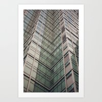 City Chevron Art Print