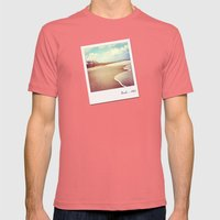 Bali beach 1983 Mens Fitted Tee Pomegranate SMALL