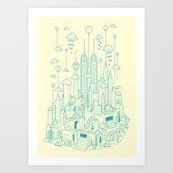 Art Print featuring Kuala Lumpur by Steven Toang