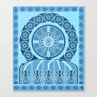 Eternal Blue Wheel Canvas Print
