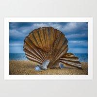 Aldeburgh Scallop Shell Art Print