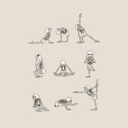 Framed Art Print - Skeleton Yoga - Huebucket