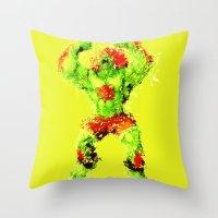 Street Fighter II - Blan… Throw Pillow
