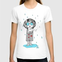 In the Rain Womens Fitted Tee White SMALL
