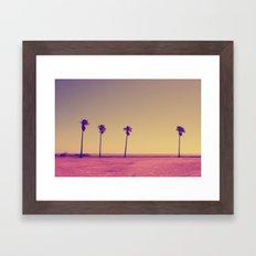 Four Palms In Paradise Framed Art Print
