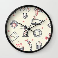 Flash Pattern Wall Clock