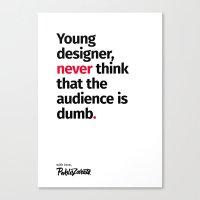 Young Designer — Advice #3 Canvas Print