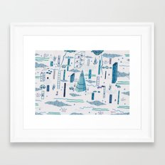Northern Town Framed Art Print