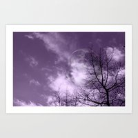 Purple Night  - JUSTART © Art Print