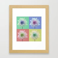 Dahlia Pop Art Framed Art Print