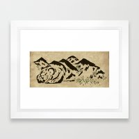 Sleepy Bear Mountain Framed Art Print
