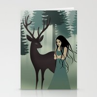 My deer friend Stationery Cards