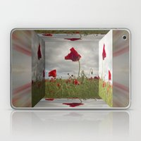 Mirrored Poppies Laptop & iPad Skin