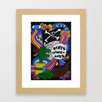 Dents Tranchantes Framed Art Print