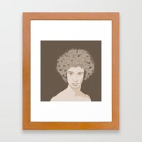 NATURE PORTRAITS 02 SIMPLIFIED Framed Art Print