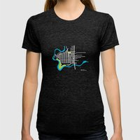 West Central, Spokane Womens Fitted Tee Tri-Black SMALL