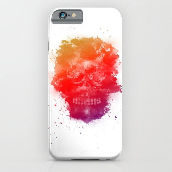 Rainbow Splatter Skull iPhone & iPod Case