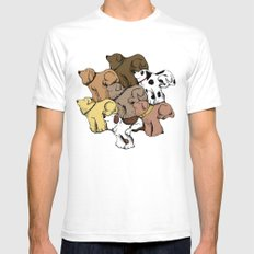 Dog Tessellation Mens Fitted Tee White SMALL