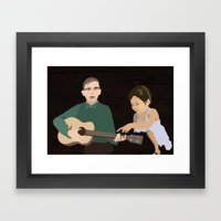 Guitar kids Framed Art Print