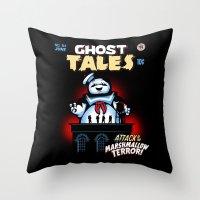 Marshmallow Terror Throw Pillow