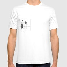 The Distrac-a-Attack White Mens Fitted Tee SMALL