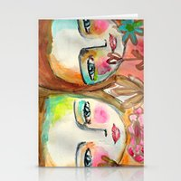 2 girls Stationery Cards
