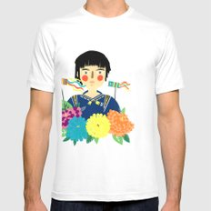 Flower Kite Mens Fitted Tee SMALL White