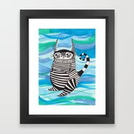 Stripy Fella Framed Art Print