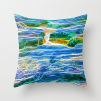 Abstract rock pool in the rough rocks in Queensland Throw Pillow