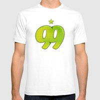 99 Mens Fitted Tee White SMALL