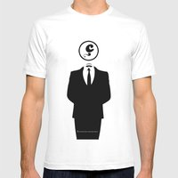 Anonymous / White / Blan… Mens Fitted Tee White SMALL
