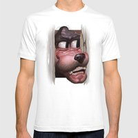 Heeere's Goofy! Mens Fitted Tee White SMALL