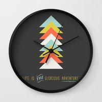 Life Is The Glorious Adv… Wall Clock