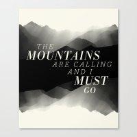 Mountains - BW Canvas Print