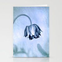 Aquilegia in the rain Stationery Cards