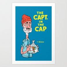 The Capt. In The Cap Art Print