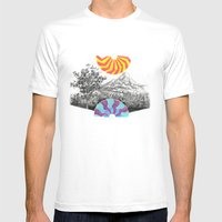 Landscape Mens Fitted Tee White SMALL