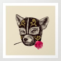 The Mask of Zorro Luchador Art Print