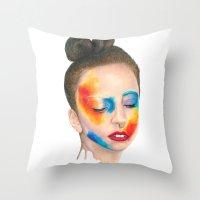 Make 'em Touch Throw Pillow