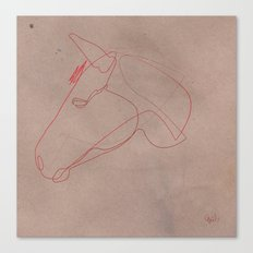 One line Horse 12 Canvas Print