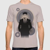 Phoenix Wright - 10th Anniversary Print Mens Fitted Tee Cinder SMALL