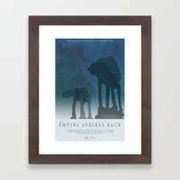 Empire Strikes Back Movie Poster Framed Art Print