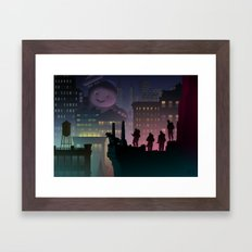 It Just Popped In There! Framed Art Print