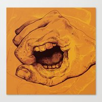 Don't Talk With Your Hands Canvas Print