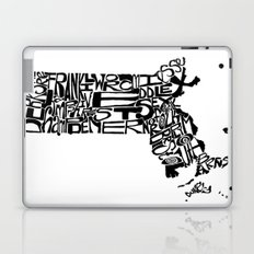 Typographic Massachusetts Laptop & iPad Skin