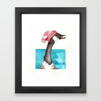 Canada Goose in a Canada Toque Framed Art Print